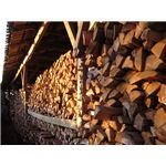 Woodpile ready for winter from Wiki Commons by Zorba the Geek