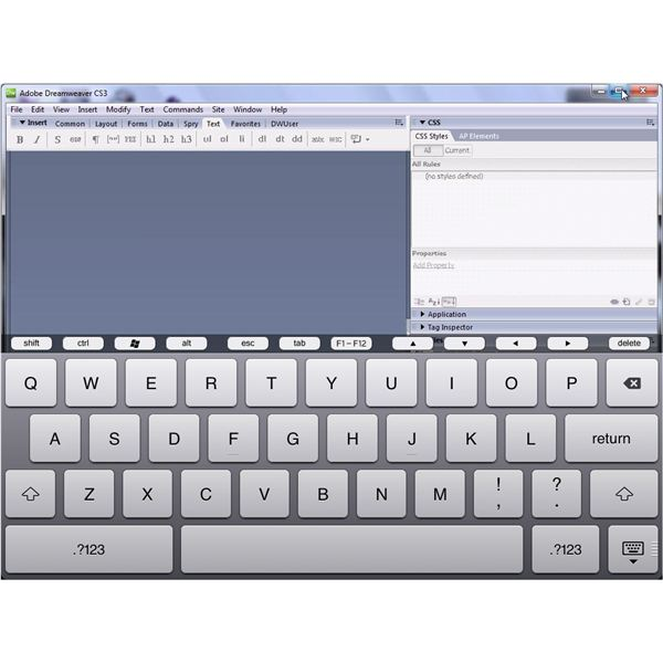 Dreamweaver on an iPad