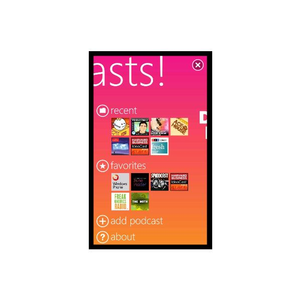 Download podcasts to Windows Phone 7