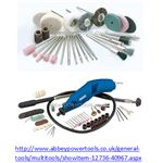 Multitool set from abbeypower complete with flexi-drive wire brushes