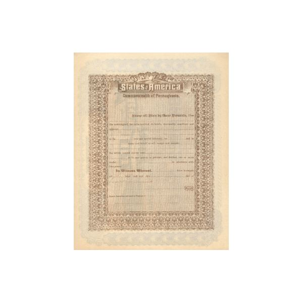 back of stock certificate