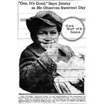 Jimmy observes sweetest day in 1922