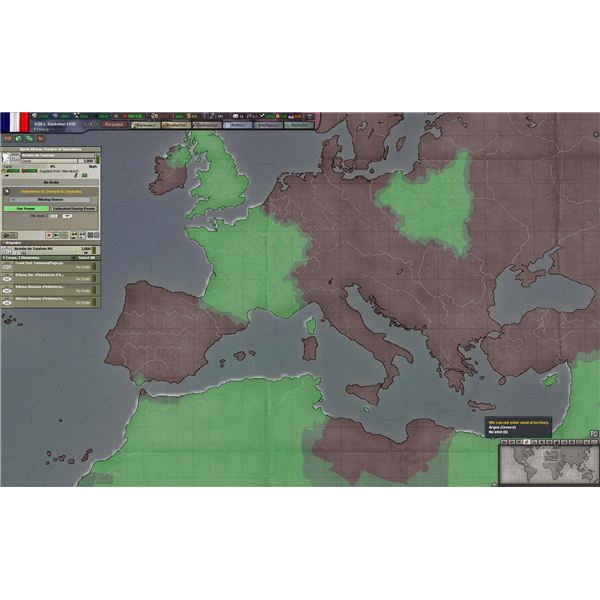 Hearts of Iron III has straightforward graphics