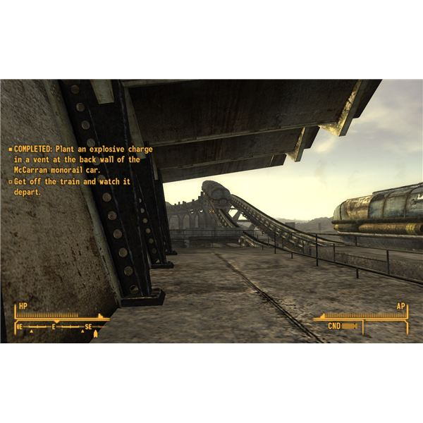 Fallout: New Vegas Walkthrough - I Put a Spell on You - Blowing up the Monorail