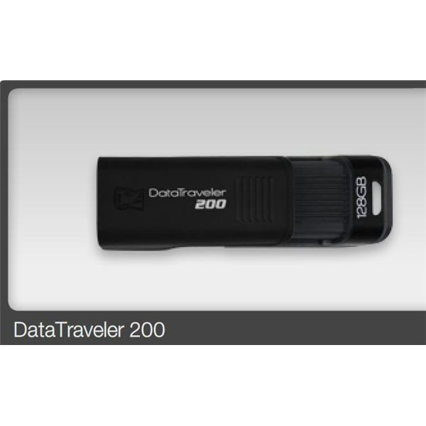 Kingston 128gb Data Traveler 200 USB flash drive- closed