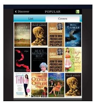 Screenshot Kobo Popular Titles