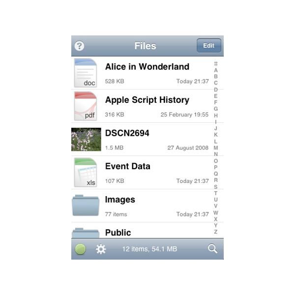 Files iPhone File Storage App