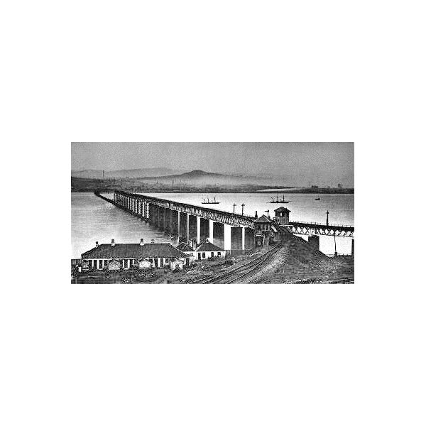 Tay rail Bridge after disaster from Wiki Media author unknown