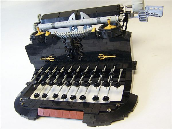Click Click Lego Typewriter - Great Invention Series
