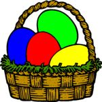 easter clipart egg basket