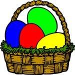 easter clipart egg basket