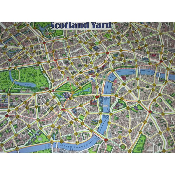 Scotland Yard Board Game Milton Bradley