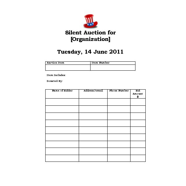 Looking for an Auction Bidder Card Template? We Have Five Great ...