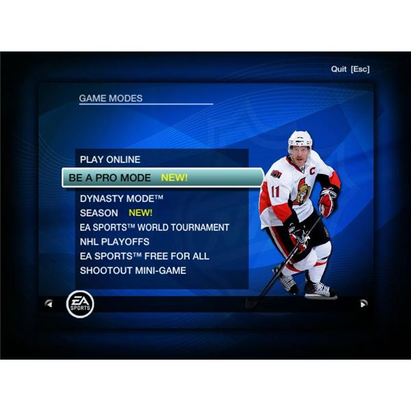 Playing NHL 09 - Game Modes Overview - by John Sinitsky