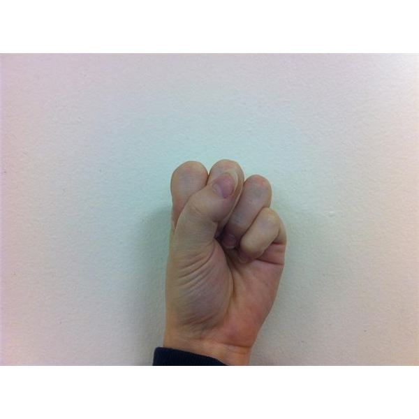 American Sign Language: Fingerspelling S