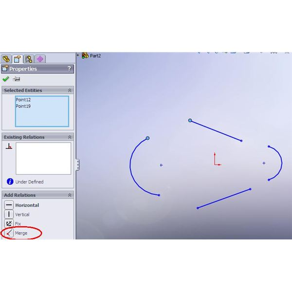 how to delete part of a line in solidworks