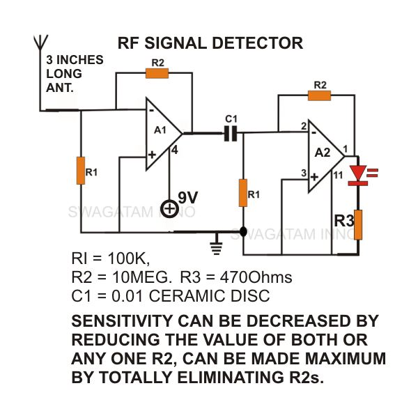 how to build a simple non contact ac voltage detector sensor rh brighthubengineering com domestic mains wiring diagram mains plug wiring diagram