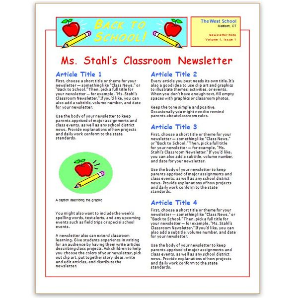 Where to find free church newsletters templates for microsoft word brainy betty newsletter template spiritdancerdesigns Images