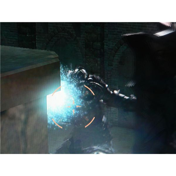 Demon's Souls: World 1-2, Phalanx Archstone - Where to stand when firing arrows at Tower Knight.