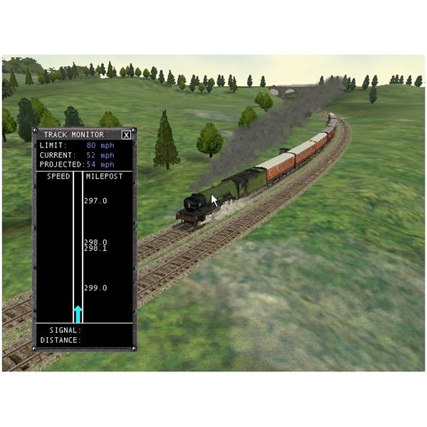 Track monitor view active