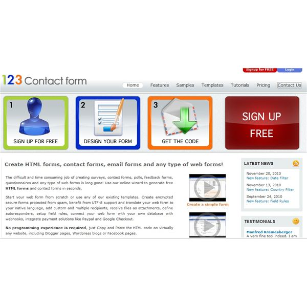 123 Contact Form Site