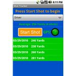 Golf Shot Tracker - Android Smart Phone Application - pic