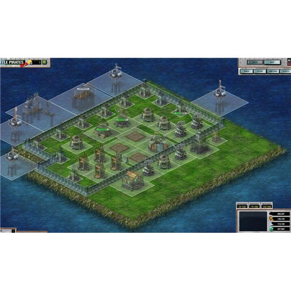 Battle Pirates: Square Layout With Squares