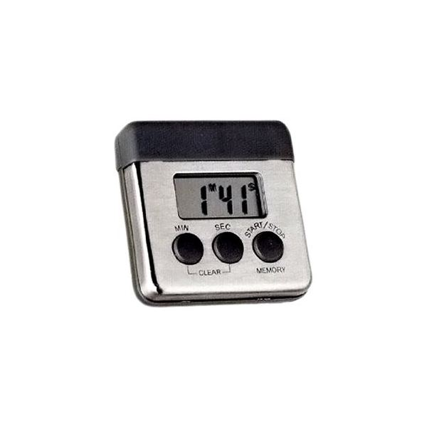 Amco Stainless Steel Digital Kitchen Timer With Magnetic Clip