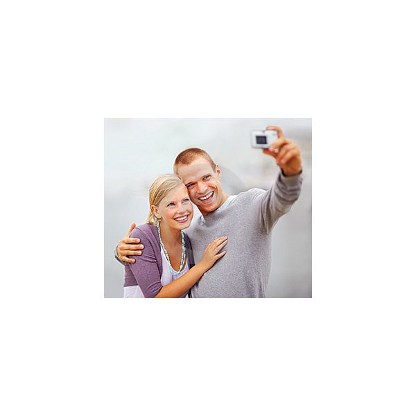 Happy Young Couple Self Photography