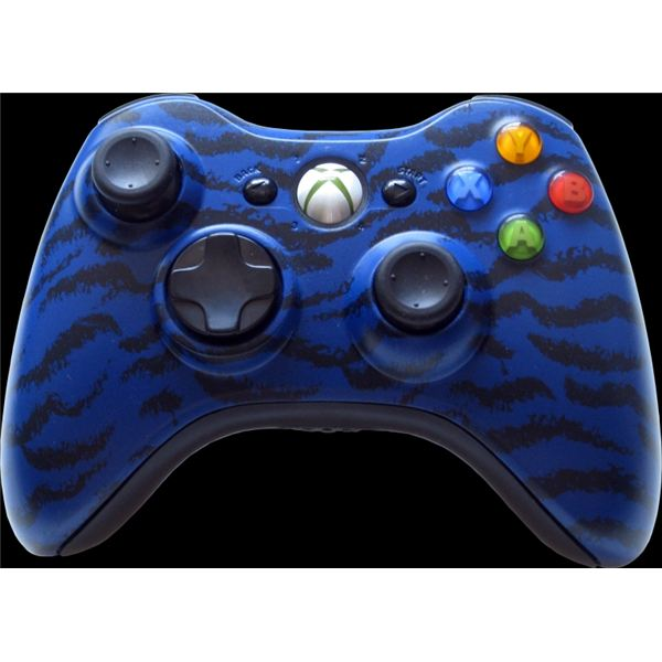 Modded XBOX Controller - Blue Tiger