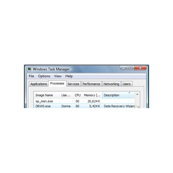 Memory Usage of Data Recover Wizard
