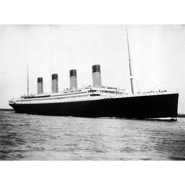 RMS Titanic departing Southampton from Wili Commons by F.G.O. Stuart (1843-1923)