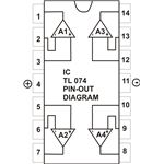 IC TL074, IC324 PIN-OUT Diagram, Image