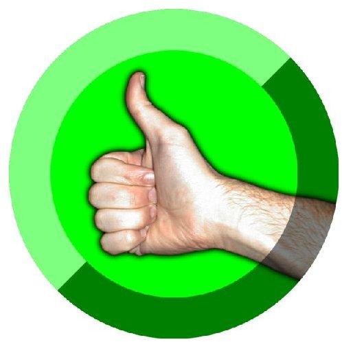 Thumbs Up Symbol by Damian Yerrick Wikimedia Commons