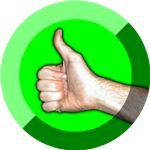 Thumbs Up Symbol by Damian Yerrick Wikimedia Commons