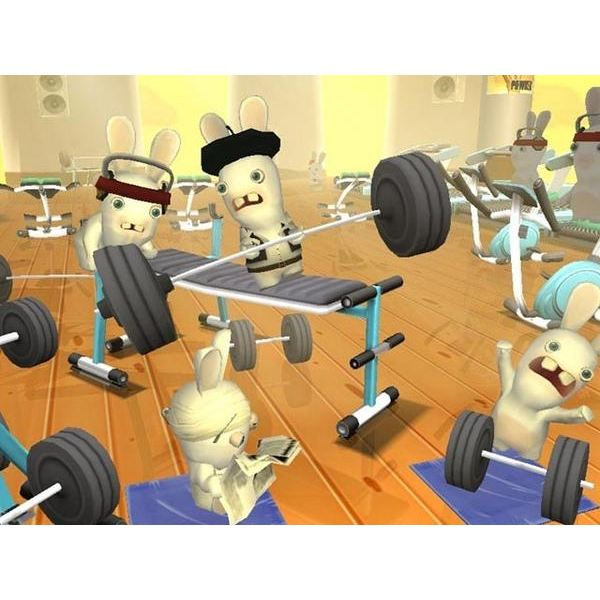 Raving Rabbids gym mini game