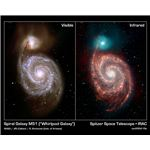 Spitzer infrared image of M51 (NASA/JPL-Caltech/R. Kennicutt (Univ. of Arizona)/DSS)