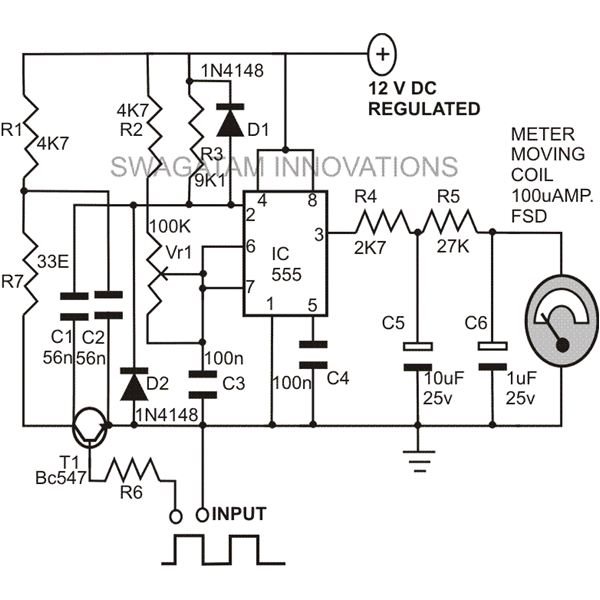 Frequency Counter Schematic Diagram : Circuit diagram of digital frequency meter and