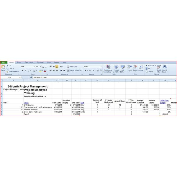 Bright Hub Excel Workbook for Project Management