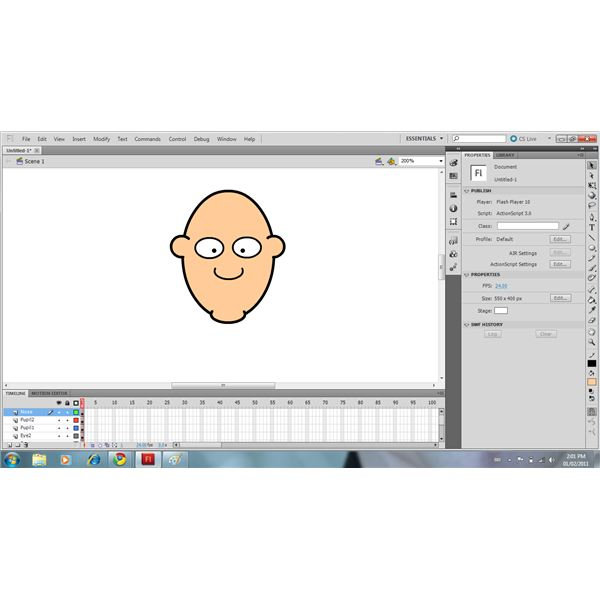 Use The Oval Tool & Eraser To Draw The Nose