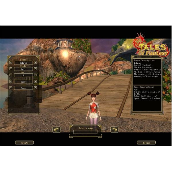 Character creation in Tales of Fantasy