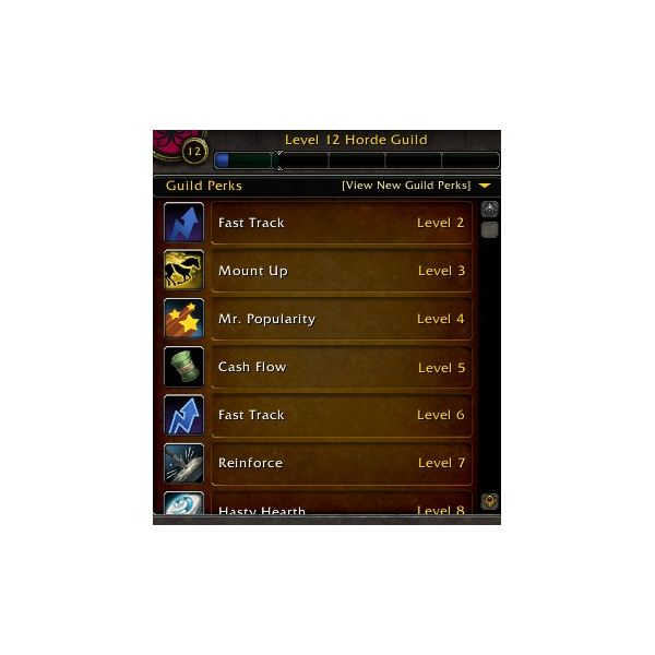 WoW Cataclysm Guild Perks, Leveling and Progression