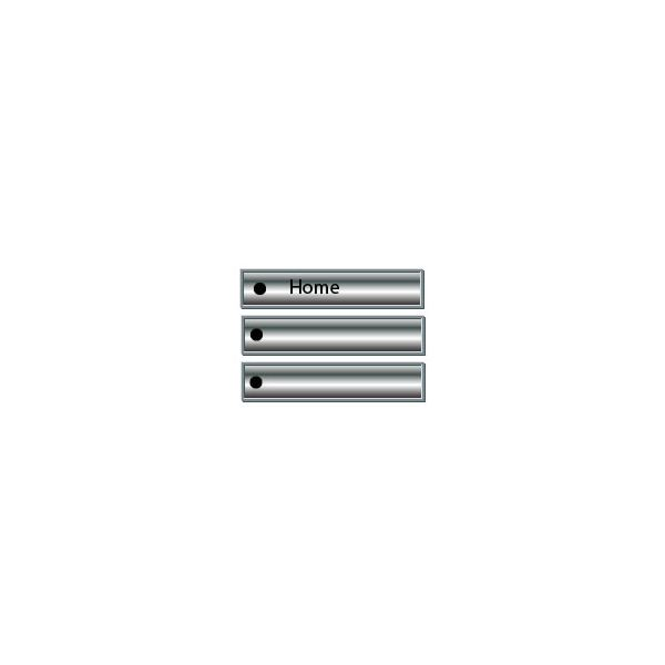 Adobe Illustrator CS3 Buttons - silver chrome buttons with black bullets - finished