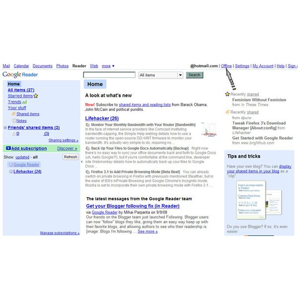Use Google Reader + Google Gears to Read Feeds Offline - ARCHIVED