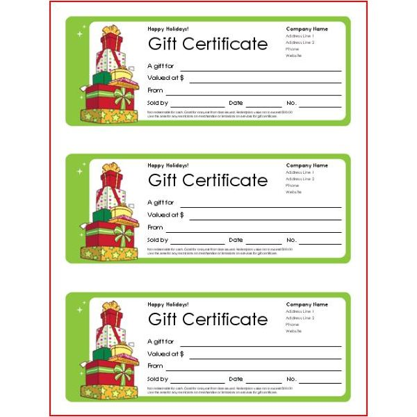 Christmas gift templates free and easy options gift certificate template vertex42 yelopaper Choice Image