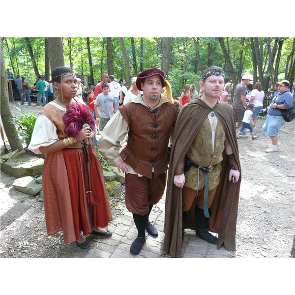 Renaissance fair people by Piotrus on Wikipedia Commons