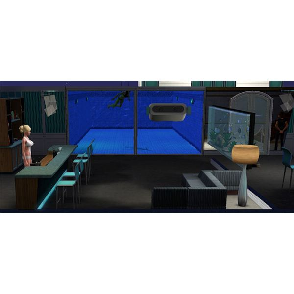 The Sims 3 Pool Spying Area