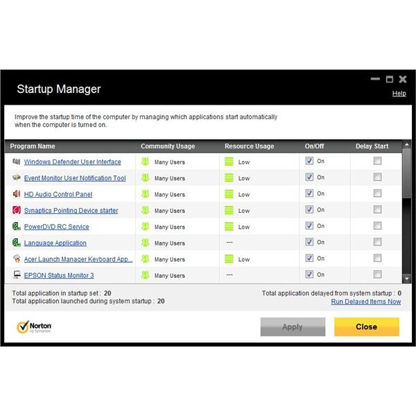 NIS2012 Startup Manager