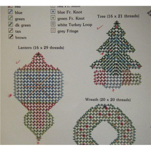 Make Easy Cross Stitch Bookmarks with Christmas Motifs