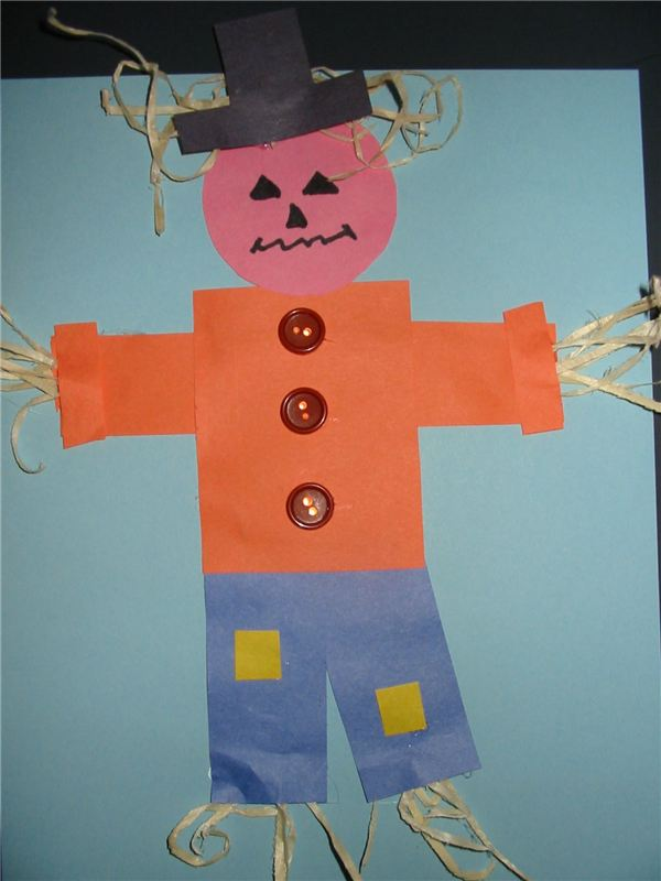 Scarecrow & 4 Kindergarten Crafts for the Wizard of Oz: Create Dorothy ...